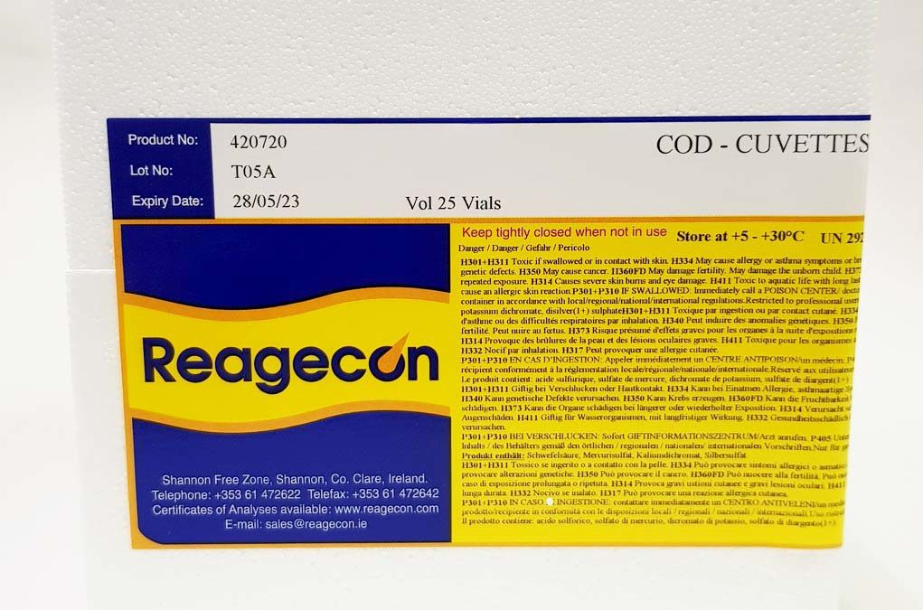 A Comparative Study of the Performance of Reagecon COD vials and Hach COD vials